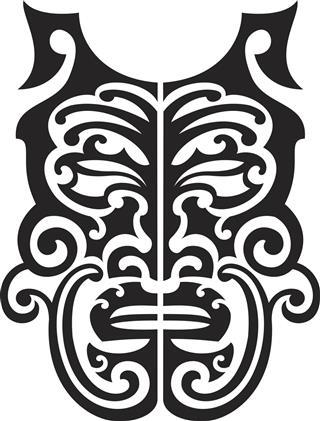 Illustration of Hawaiian Mask