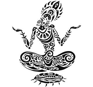 Meditation tattoo style