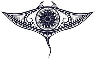 Maori style tattoo pattern