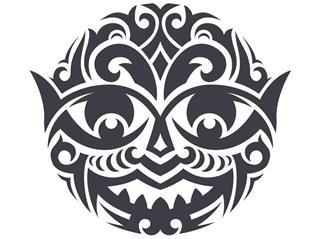 Hawaiian Tribal Mask