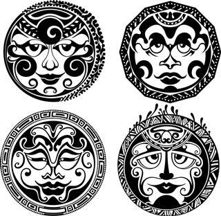 Hawaiian four tattoo design