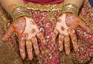 Henna hand tattoos
