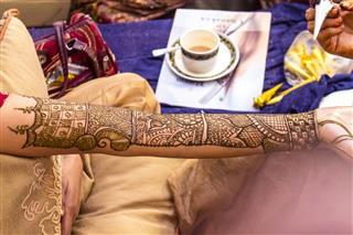 Henna Art on Hand