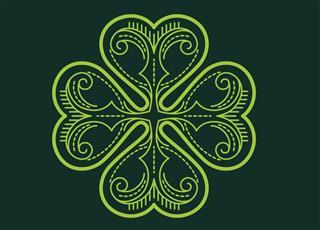Celtic style leaf tattoo