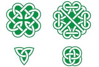 Irish green patterns