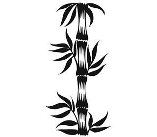 Silhouette bamboo tattoo