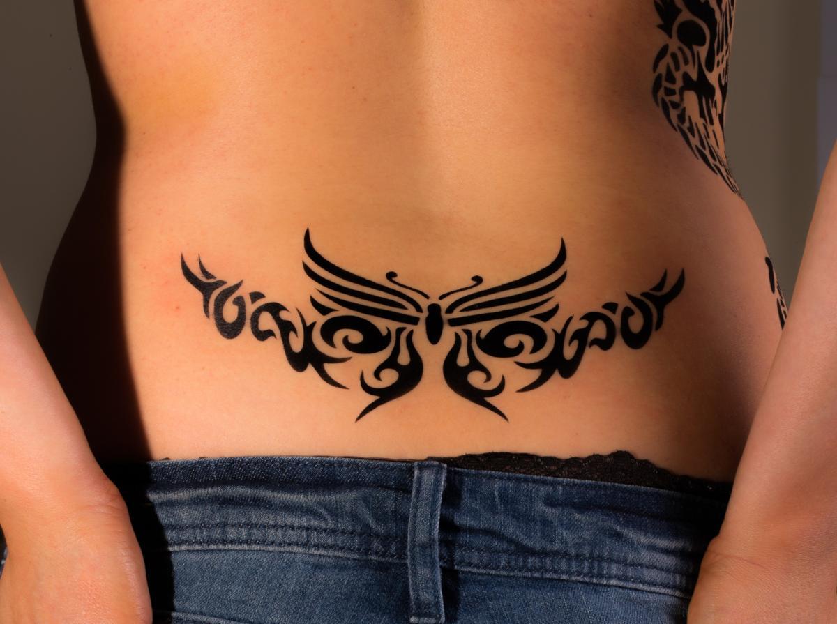 Lower Back Tattoos For Girls