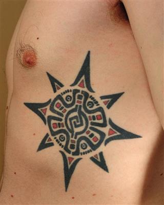 Tattoo on rib side