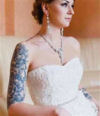 Bride Arm Tattoo