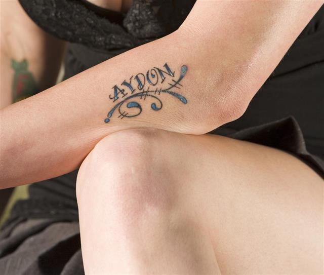 Tattoo design on hand