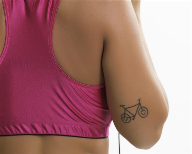 Bicycle tattoo design