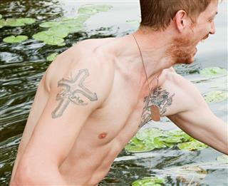 Cross Shape Tattoo