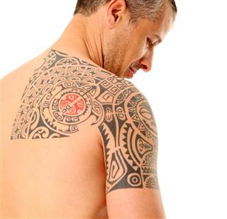 Tattooed Mid Adult Man