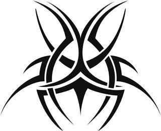 Tribal scarab tattoo