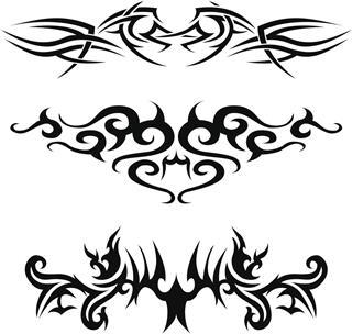 Three tribal tattoos