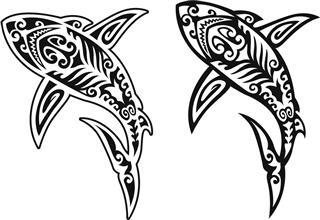 Tribal Shark Design