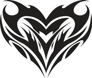 Tribal heart design