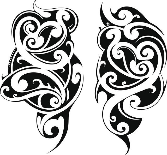 Maori tribal style tattoo