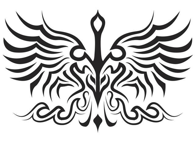Bird tattoo silhouette