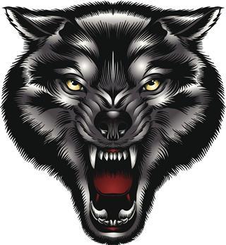 Wolf head illustration