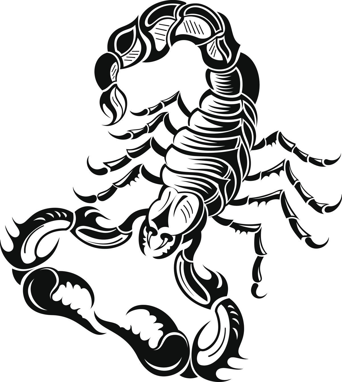 Tribal zodiac tattoos black scorpion design biocorpaavc