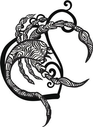 Scorpio zodiac tattoo