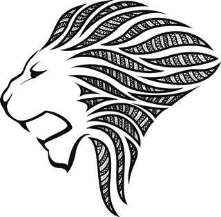 Lion head silhouette image
