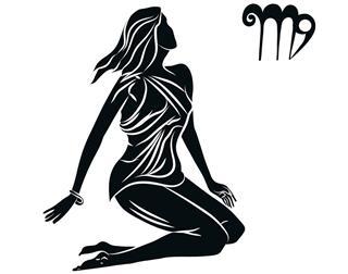 Black silhouette of virgo