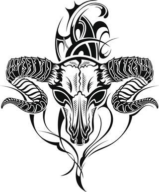 Skull Tattoo of Goat