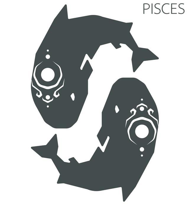 Pisces zodiac sign illustration