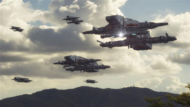 Spaceship Ufo Concept