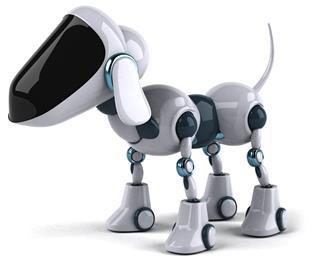 White Dog Robot