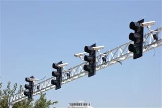 Traffic Surveillance Cameras And Traffic Lights