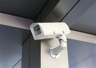 Cctv Security Camera Of Building