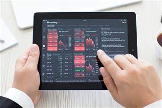 Ipad With App Bloomberg
