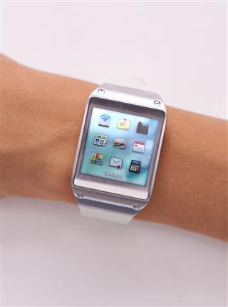 Smart Watch On Male Hand