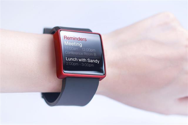 Hand Wearing Smart Watch
