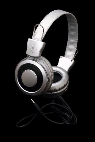 Stereo Headphones On Black