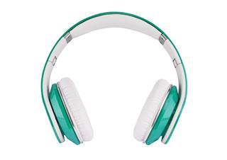 Green And White Headphones