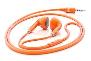 Orange Earphones