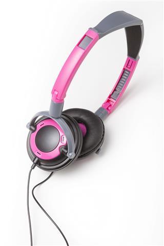 Pink Audio Headphones