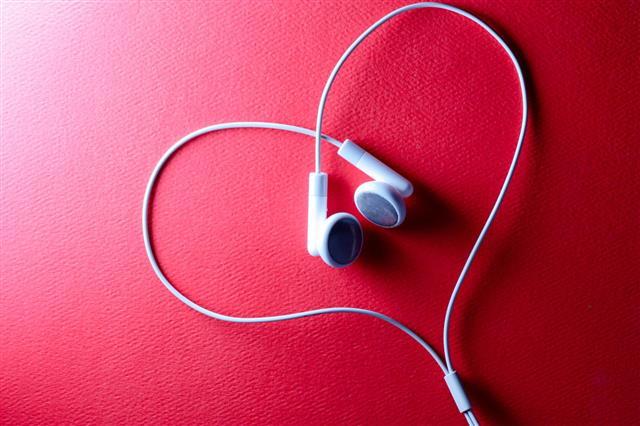 Headphones Put In Heart Shape