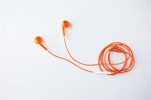 Orange Color Earphone