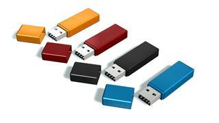 Set Of Usb Flash Memory Drive Stick