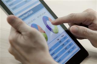 Business Man Working On Digital Tablet