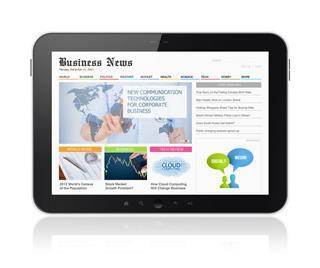 Business Media On Digital Tablet