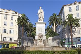 Statue of Napoleon Bonaparte Ajaccio Corsica
