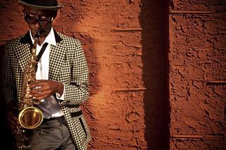 Street Musician Saxophone Player