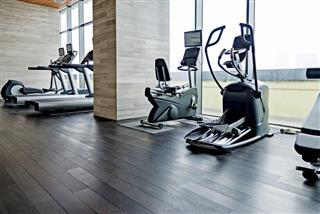 Empty gym room