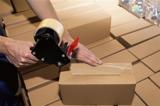 Packing a carton boxes